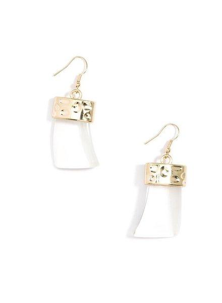 Chunky Acrylic Drop Earrings In Clear