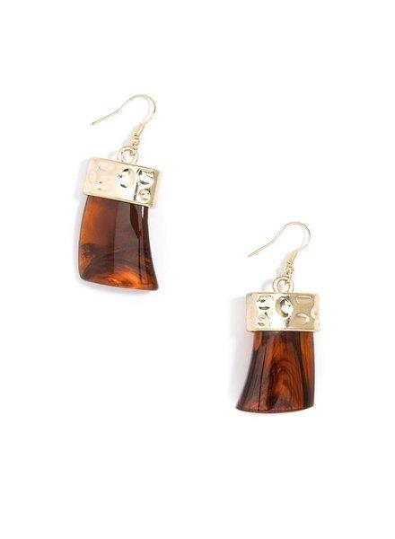 Chunky Acrylic Drop Earrings Amber