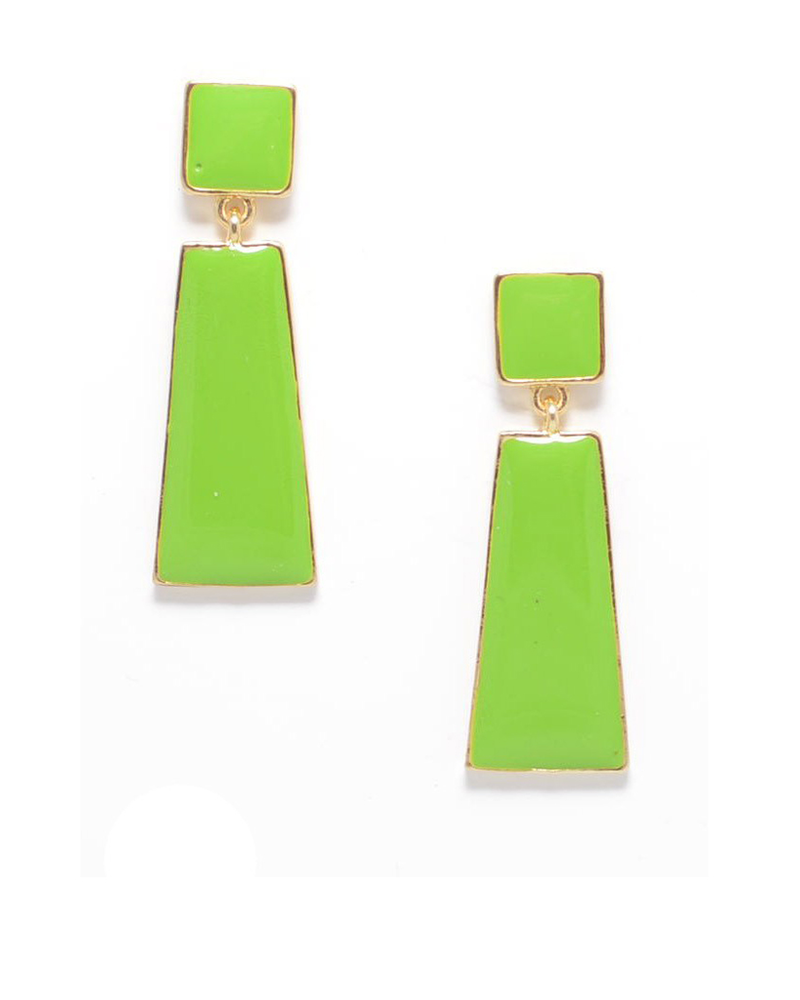 Hue Go Girl Earrings In Lime