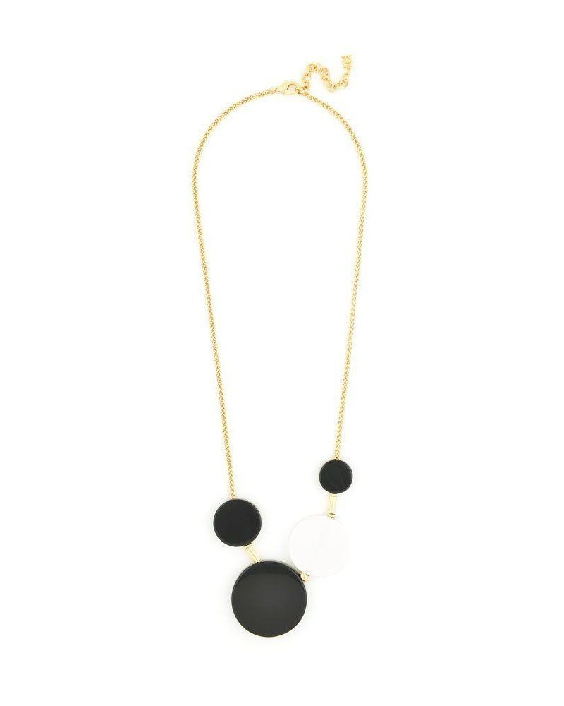 Mod Dots Long Necklace In Black & White