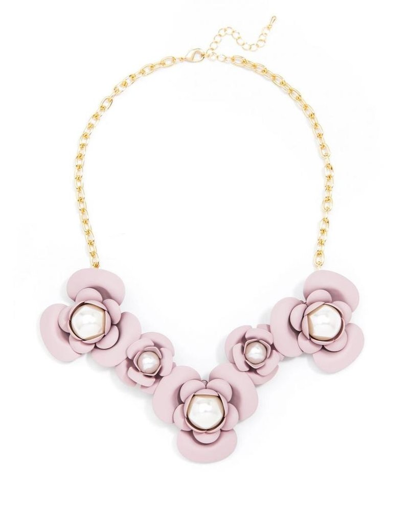 Alice's Flower Necklace In Rose