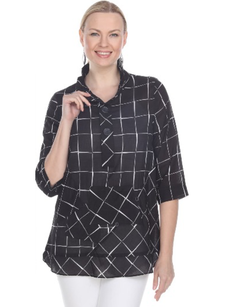 Terra Terra's Black Windowpane Pullover Tunic