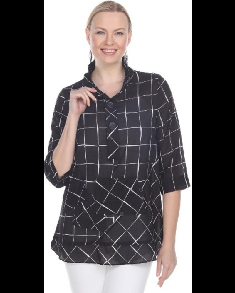 Terra Terra's Black Windowpane Pullover Tunic