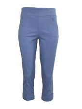 Renuar Magic Mid-Calf Capri In Blue Berry