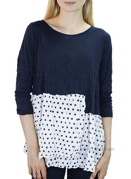 Comfy's Lisa Top In Navy & Navy Dot