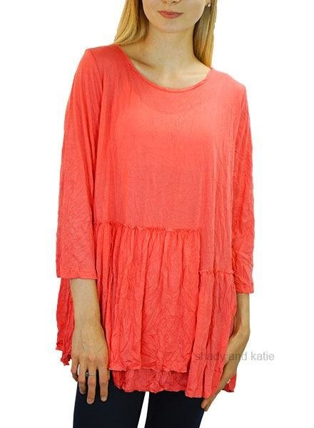 Comfy USA Lisa Top In Coral