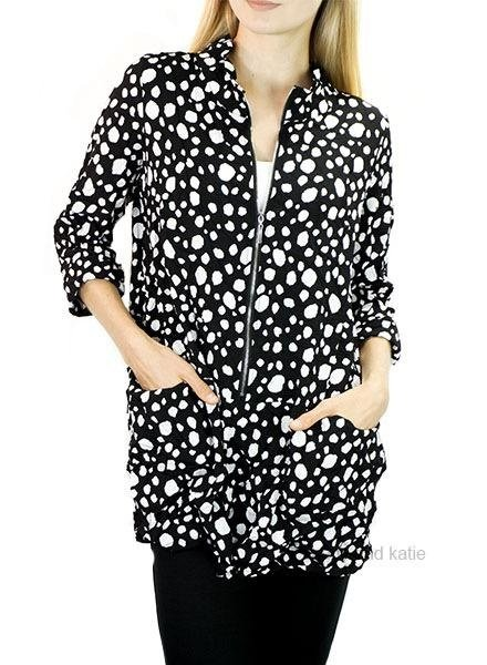 Comfy's Lily Tunic In Irregular Dot Crepe De Chine