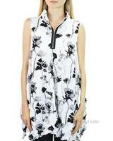 Comfy's Verona Vest In Black Flower Print