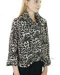 Comfy's Milan Jacket In Animal Crepe De Chine
