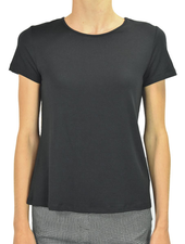 Comfy U.S.A. Comfy Short Sleeve Tee In Black