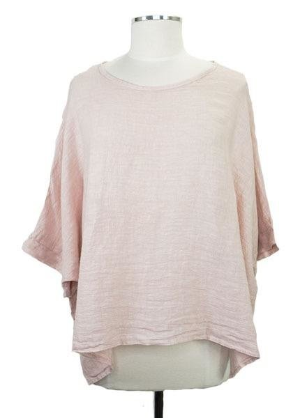Italian Linen Box Top In Soft Pink
