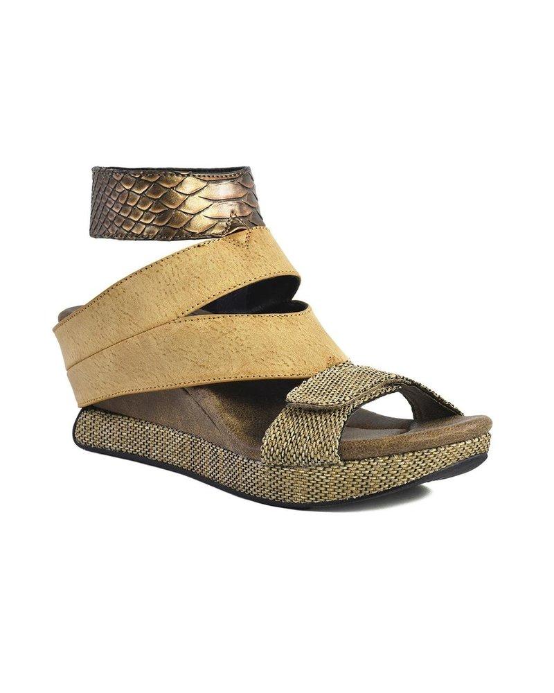 Modzori Reversible Olivia Wedge T-Strap Sandal