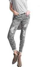 Distressed Ankle Leopard Jean In Greys