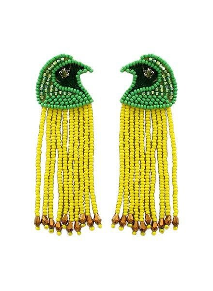 Tassel Drop Toucan Earrings
