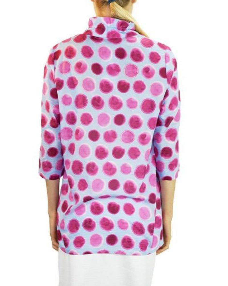 Terra Terra's Eclipse Pullover Tunic In Pink & Blue