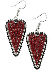 Crystal Red Heart Earrings