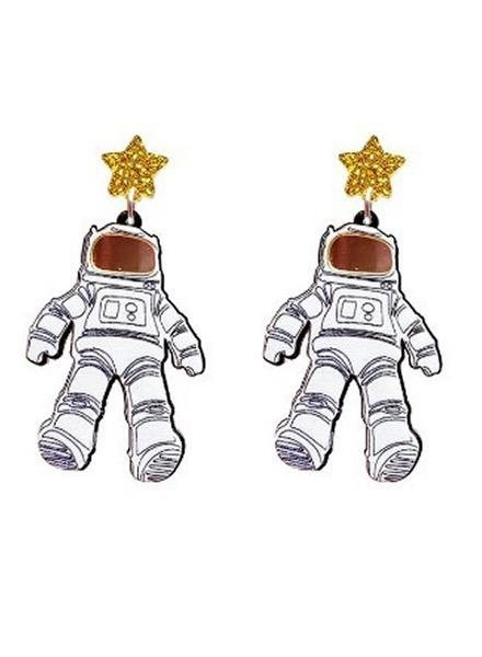 Spaceman Earrings