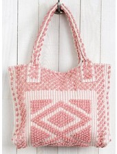 Chenille Tote Bag In 50's Pink