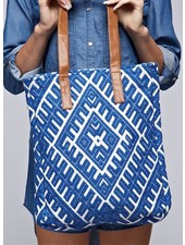 Blue Tapestry Tote