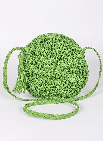 Round Straw Grab N' Go BagMultiple Colors!
