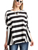 Rugby Stripe Easy Top In B&W