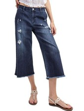 Demin Cropped Flare Jeans