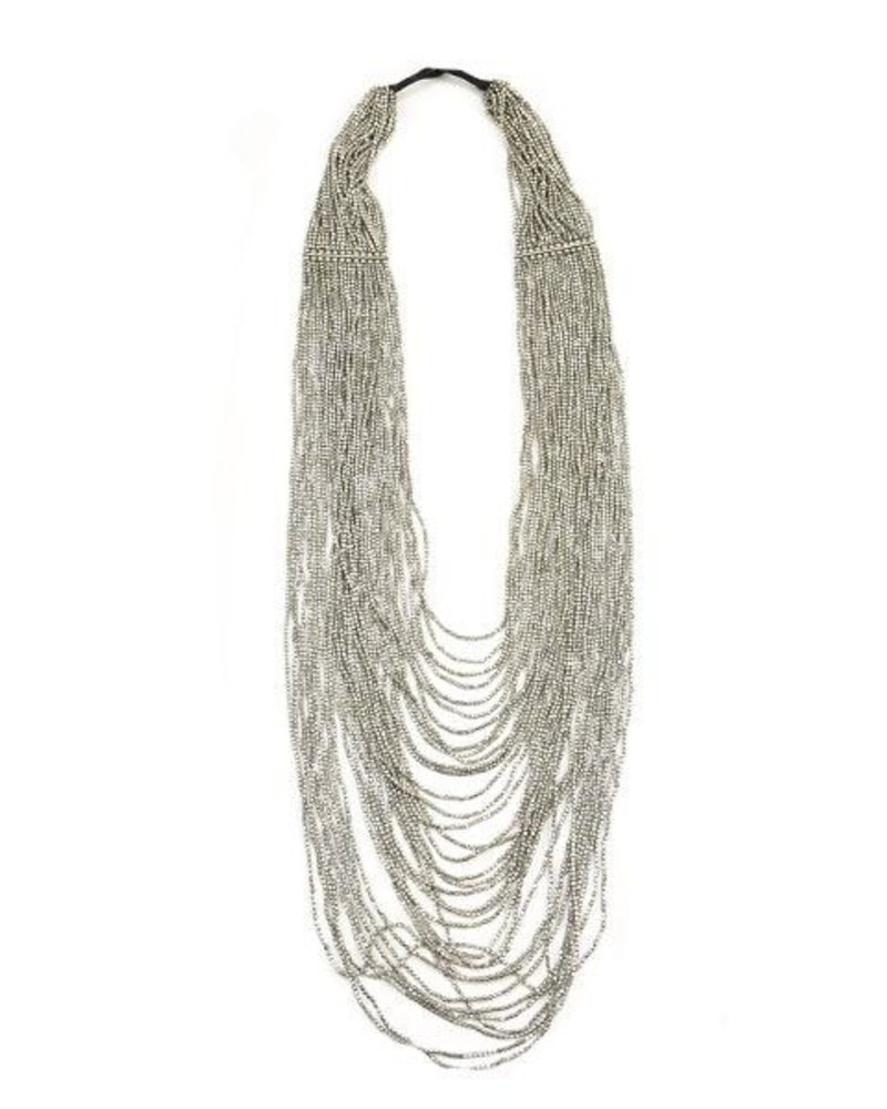 Ink + Alloy Silver Multi Strand Necklace