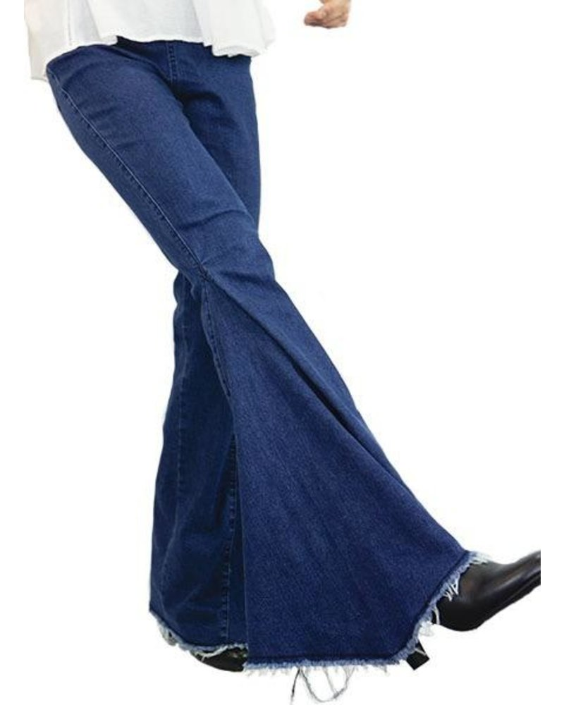 Bell Bottoms In Dark Wash Denim