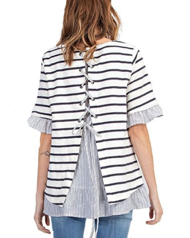 Lace Me Up Please Tunic