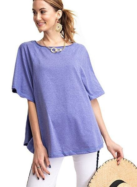 Paris Blue Wing Sleeve Top