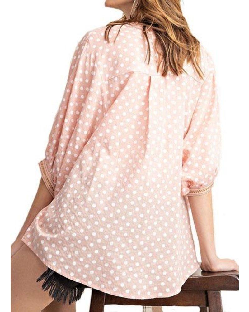 Light Coral Dot Shirt