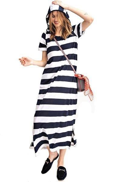 Captian Cool Dress In Navy
