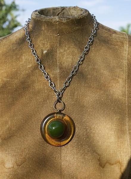 Vintage Bakelite Ball Button Necklace