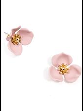 Blooming Lotus Stud Earrings Rose