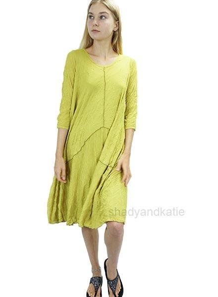 Comfy's Ester Tunic Dress In Chartreuse