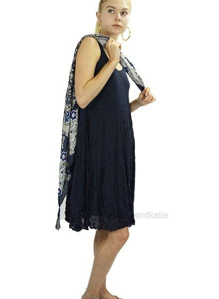 Comfy's Mickey Crinkle Dress In Navy