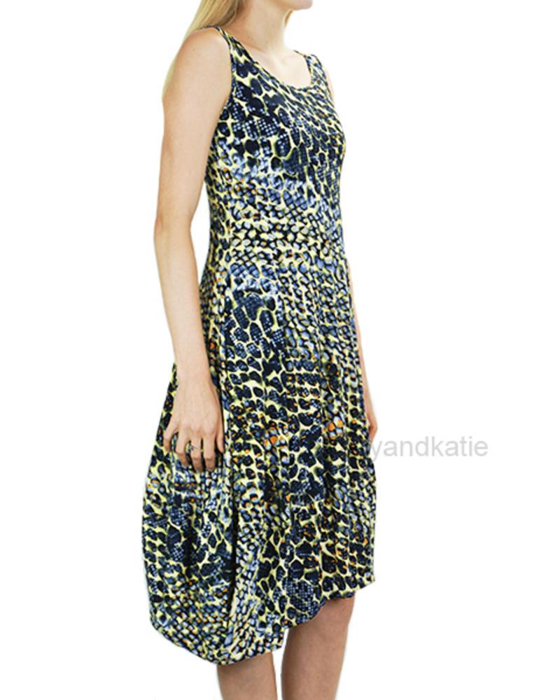 Comfy's Lisa Dress In Multi Abstract Print