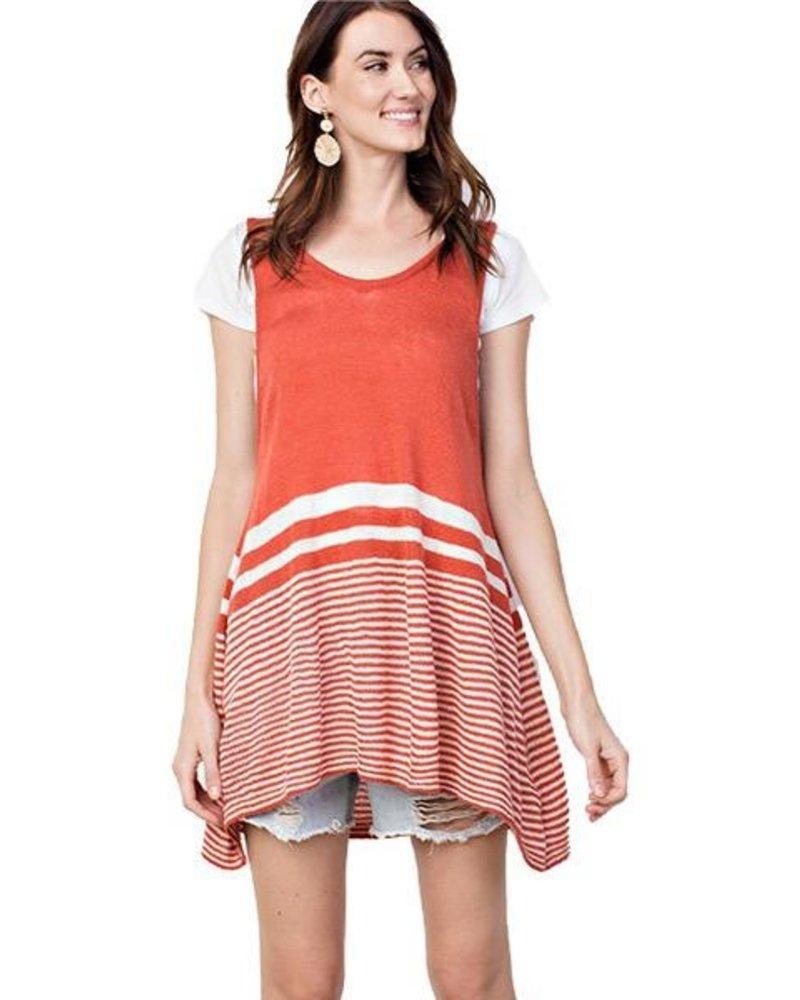 Crimson Stripe Vest