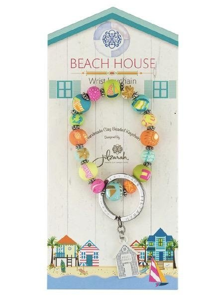 Beach House Wrist Key Chain