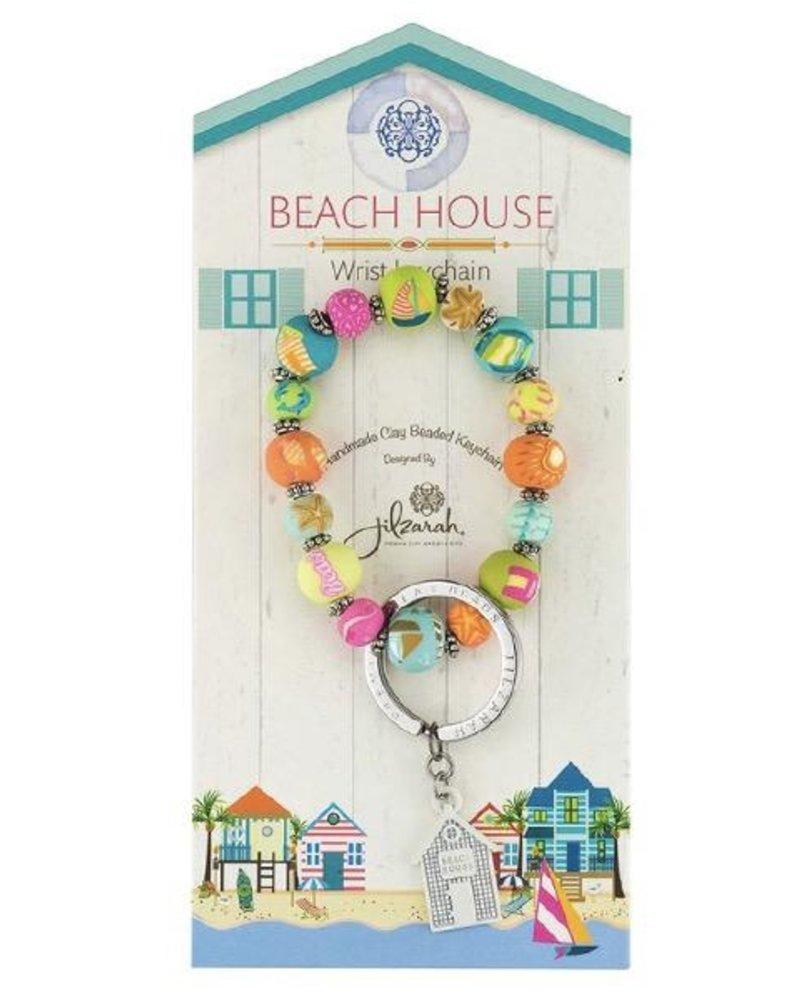 Beach House Wrist Key Chain