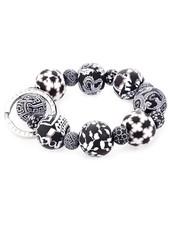 Wrist Key Holder In Black & White