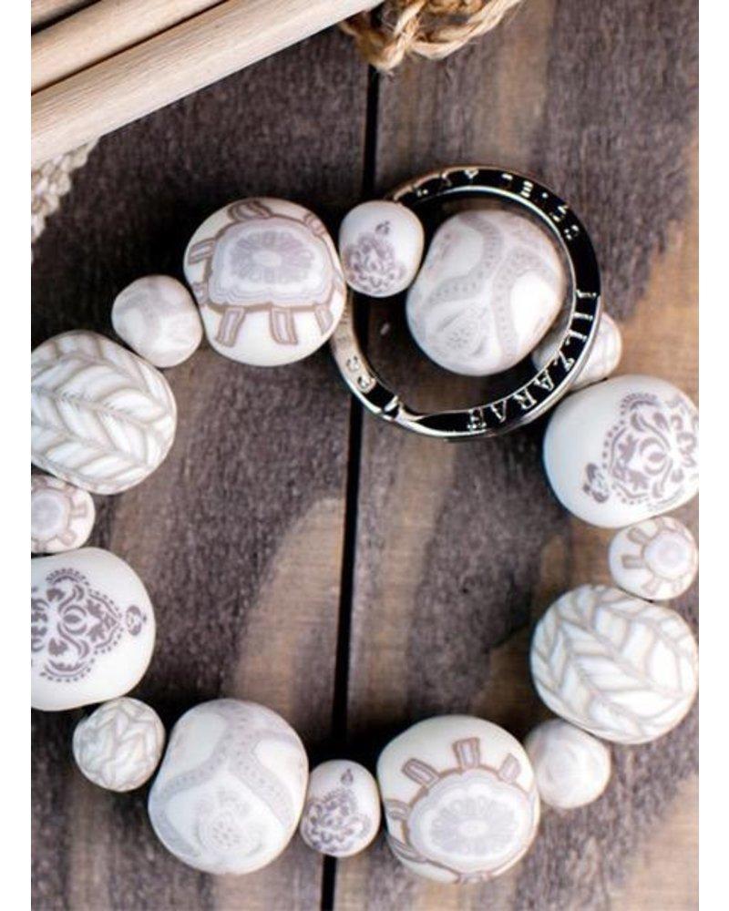 Wrist Key Bracelet In Linen