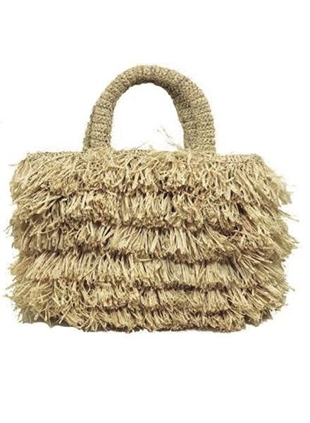 Shebobo The Shebobo Fringe Bag In Natural