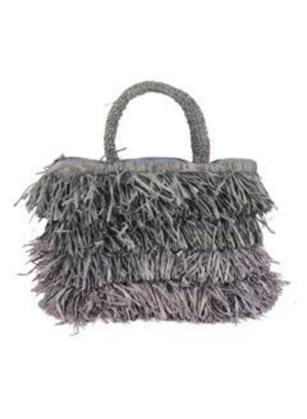 Shebobo The Shebobo Fringe Bag In Grey