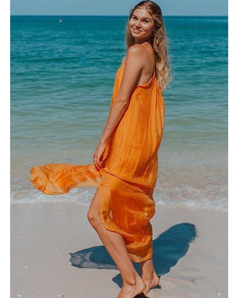Goddess Dress In Tangerine