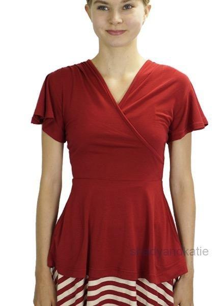 Effie's Heart Effie's Heart Donna Blouse In Crimson