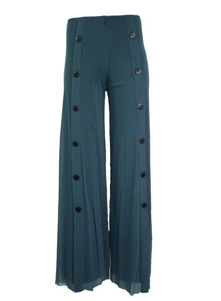 Petit Pois Palazzo Sailor Pant In Blue Stone
