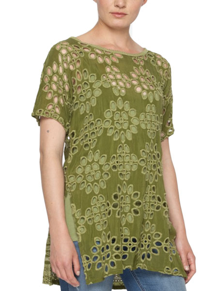 Johnny Was Johnny Was Tank & Lalla Tunic In Forest Green