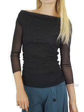 Petit Pois' Shirred Cowl Neck Top In Black