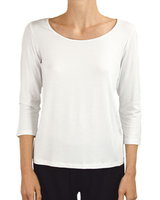 Comfy U.S.A. Comfy Scoop Neck Tee In White